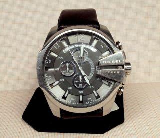 Grosse Diesel Herrenuhr Chronograph (dz - 4290) Mit Lederband Bild