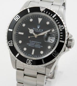 Rolex Submariner 16610 Mit Box Und Papieren Von 1994 Lc100 Bild