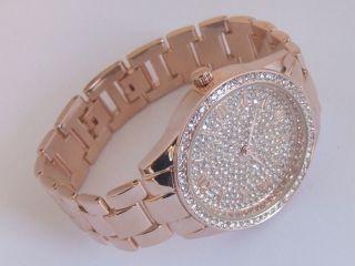 Ny London Juwelenbesetzt Rose Gold Ton Kristall Watches Modisch Bling Band Bild