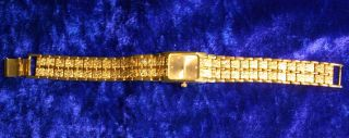 Damen - Armbanduhr - Vergoldet.  Konkursware Bild