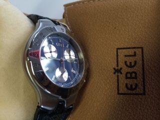 Ebel Sportwave Quartz Chronograph Uhr; Guter Zustand; Mit Box Und Papieren Bild