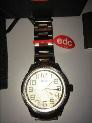 ,  Edc Esprit Herrenuhr Uhr Armbanduhr Metall Silber Uhr, Bild