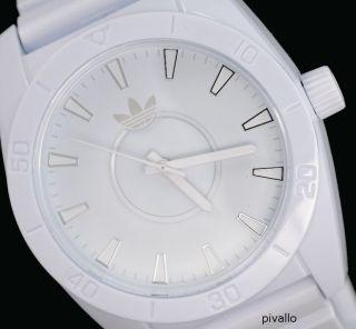 Adidas Herrenuhr / Herren Uhr Silikonband Weiß Leicht 5atm Adh2775 Bild
