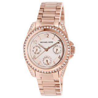 Michael Kors Uhr Mk5613 Blair Rosegold Damen Edelstahl Armbanduhr Analog Bild