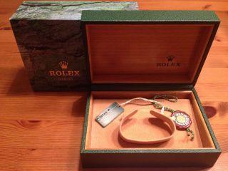 Rolex Box Mit Karton In Sehr Mit Rolex Hangtag Bild