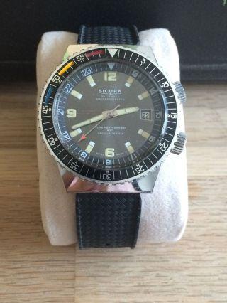 Sicura (später Breitling) - Automatic Diver - Herrenuhr - 400m - Rar - Top Bild