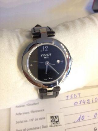 Tissot Pinky Leder Armband Uhr Box Und Papiere Edelstahl 2 Monate Alt Bild