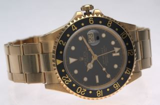 Vintage Rolex Gmt - Master 16718 Yellow Gold 750 N - Serie 1993 Bild