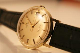 Omega Genéve Automatic 14k Massiv Gold / Herren/gents Cal.  565 Top/mint Bild