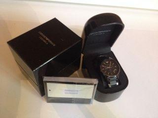 Emporio Armani Herrenuhr Keramik Chronograph (ar1452) Neu&ovp Bild