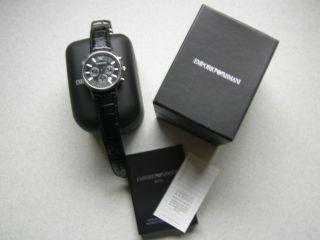Armani Herrenuhr Ar2447 Chronograph Uhr Wurde Garantiert Nur Zwei Tage Getragen Bild