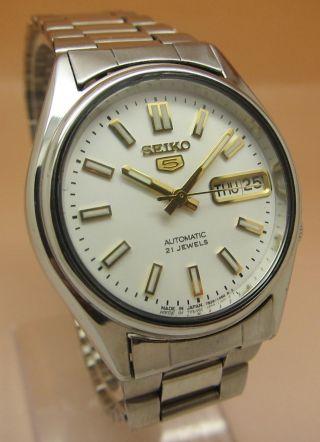 Seiko 5 Durchsichtig Automatik Uhr 7s26 - 0560 21 Jewels Datum & Tag Bild