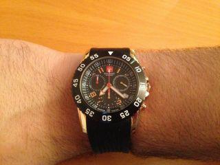 Chronograph,  Sportuhr,  Schweizer Uhr,  Swiss Military,  Schwarz,  Gold,  Quarz Bild