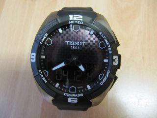 Tissot T - Touch Expert Solar 45mm Titan Leder Schwarz Ungetragen Touchscreen Bild