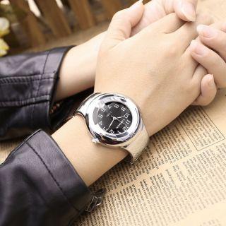 E1088 Armband Uhr Armspange Silber Quarzuhr Legierung Damen Herren Armkette Uhr Bild