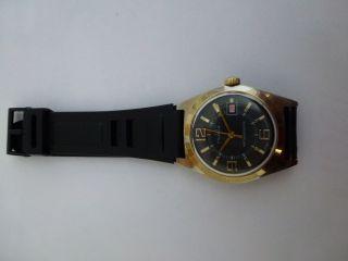 Hau Ruhla Kult Uhr Aus Der Ddr,  70er.  Kal.  Umf 24 Mit Datuml Bild