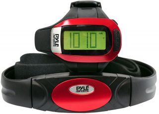 Pyle Sport Uhr Geschwindigkeit Distanz Schrittzähler Herzfrequenz Chronograph Bild