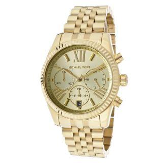 Michael Kors Damenuhr Mk5556 Chronograph Gelbgold Vergoldet Damen Uhr Bild
