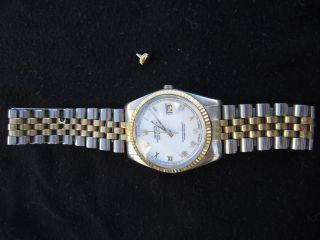 Rolex Oyster Perpetual Datejust Chronometer Hau 70/80er Jahre Reparaturbedürftig Bild