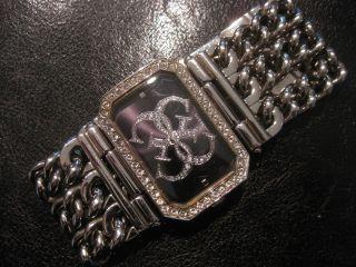 Guess Uhr Damenuhr Heavy Metal Silberfarbend Kettenarmband Bild