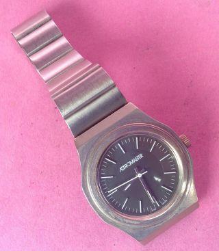 Vintage Swiss Made Astromaster Herren Armbanduhr Große Sekunde Handaufzug 1970 Bild