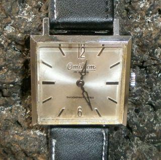 Vintage Omikron Karree 60er Jahre Armbanduhr Zweizeiger Hau Bild