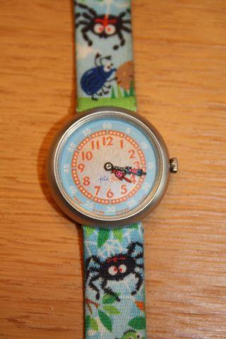 Flik Flak Armbanduhr Für Kinder Blau Mit Insekten Weihnachten Bild
