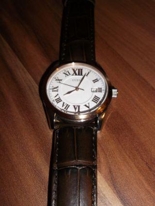 Guess Herrenuhr W95142g1 Armband Braun Reduziert Bild