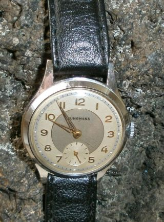 Vintage Junghans Kal.  93 50er Jahre Armbanduhr Hau Bild