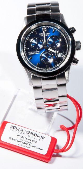 Swiss Military Hanowa Edelstahl Chronograph Chrono Blau Silber 6 - 5115.  04.  003 Bild