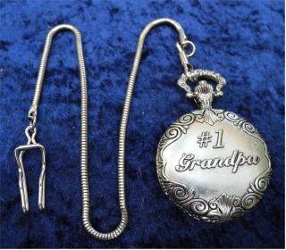 Bezaubernde Taschenuhr Mit Kette - 1 Grandpa - Opa Großvater Weihnachtsgeschenk Bild