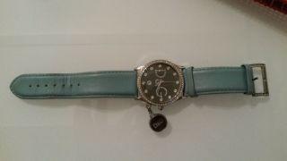 D&g Dolce & Gabbana Gloria Damen Uhr Leder Armbanduhr Mit Kristallen Swarowski Bild