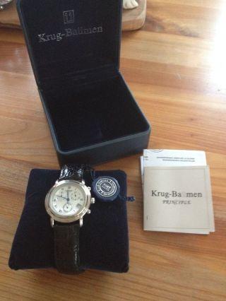Elegant Krug Baäume Chronograph Principle Gents Mit Lederarmband,  Analog,  Quarz Bild