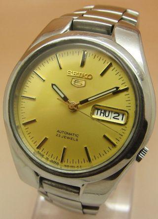 Seiko 5 7s26 Glasboden Mechanische Automatik Uhr 21 Jewels Datum & Tag Bild