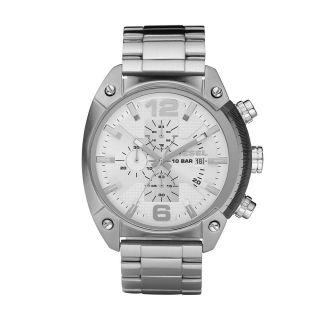 Diesel Herren Uhr Chronograph Edelstahl Overflow Silver Watch Dz4203 189€ Bild