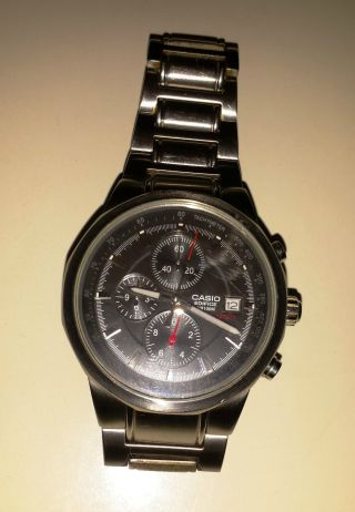 Casio - Chronograph - Edifice Wr100m - Uhr - Herrenuhr - Stainless Steel Bild