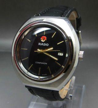 Schwarz Rado Companion Mit Datumanzeige Handaufzug Uhr Bild