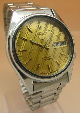 Seiko 5 Retro 21 Jewels Mechanische Automatik Uhr 7s26 - 3140 Datum & Taganzeige Bild