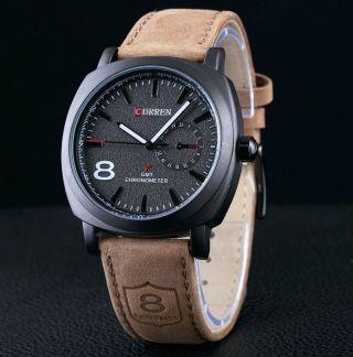 Curren No8 Leder Armbanduhr - Edelstahl - Wasserdicht - Analog Bild