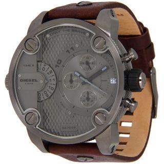 Diesel Braun Leder Band Chronograph Herren Uhr Herrenuhr Armbanduhr Dz7258 Bild