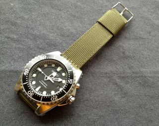 Seiko Kinetic Diver ' S 200m Watch Ska371 Wie Bild