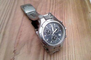 Timex Chronograph Mit Indiglo - Zifferblattbeleuchtung Bild