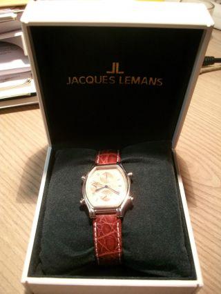 Rarität - Jacques Lemans Jl - 719 Quartz Chronograph,  Lederarmband,  Armbanduhr Bild