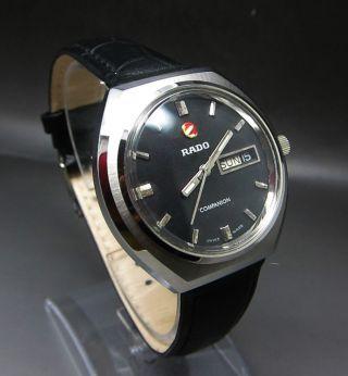 Schwarz Rado Companion Mit Datum & Taganzeige Handaufzug Uhr Bild