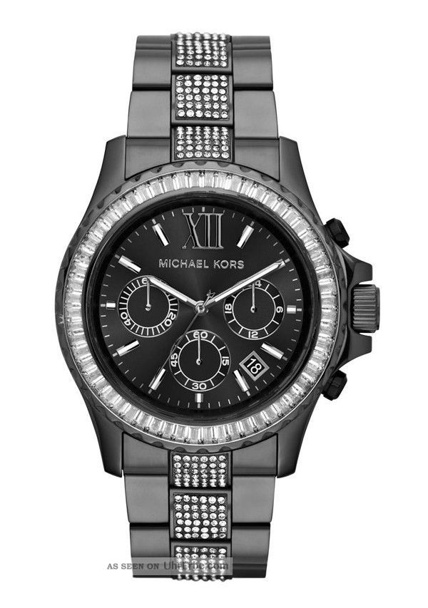 michael kors damen armbanduhr chronograph quarz edelstahl beschichtet mk5829. Black Bedroom Furniture Sets. Home Design Ideas