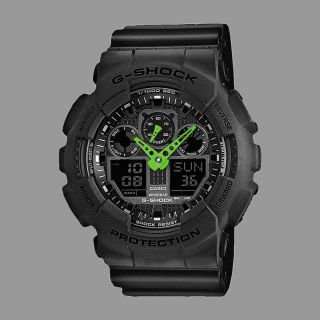 Casio Uhr Watch G - Shock Ga - 100c - 1a3er Black Green Bild
