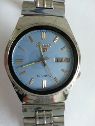 Seiko 5 Automatic Daydate Seltenes Blaues/blue Dial 7009 - 7031 A1 Sammler Vintage Bild