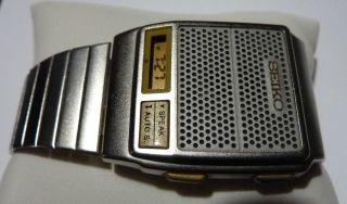 Seiko A965 - 4000 Talking Watch,  Sprechende Uhr Bild
