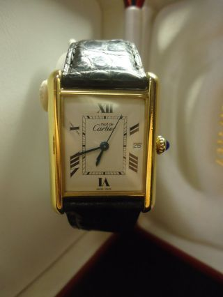 Cartier Tank Armbanduhr Für Damen Bild