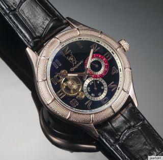 Königswerk Uhr Damen Herren Automatik Mercurius Gold Rosé Glasboden Bild